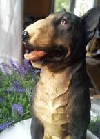 Hundefigur Deko Hund Bullterrier Bull Terrier Schwarz Clayre&Eef Figur Dekofigur