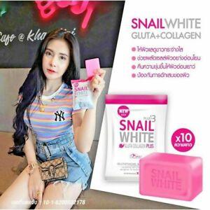 Snail White Glutathione Collagen Whitening Skin Anti Aging Soap Bar Au Seller