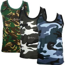 Mens Camouflage Army Military Training Sleeveless Vest Sizes S to 5XL Paintball