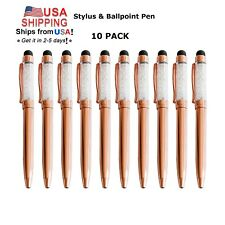 10x Rose Gold Crystalline Stylus Pen For Touch Screen Device Tablet Pc Tab