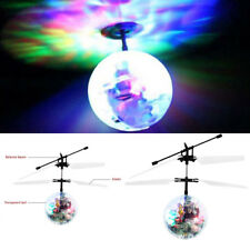 Main Induction RC Flying Gyrophare Boule Cristal Sensing Hélicoptère Enfant Neuf