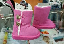 scarpe bimba bambina stivale stivaletto neve imbottito rosa offerta num.22-28