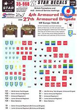 Star Decals 1/35 BRITISH 4th & 27th ARMOURED BRIGADES ARMS OF SERVICE MARKINGS