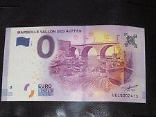 rare BILLET TOURISTIQUE EURO SOUVENIR vallon des auffes terminaison département