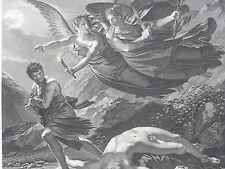 PRUD'HON Gravure Justice Vengeance Divine Le Roy Roger XIXe siecle