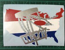10� Usa Disc Golf Vinyl Decal