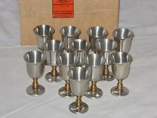 Old Newbury Pewter Cordial Glasses  set of 12  #B515 Marketing By Royal Doulton