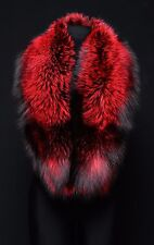 Royal Saga Furs Red Silver Fox Real Fur Shoulder Wrap Stole Scarf Boa 51""