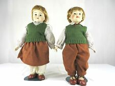 Pair of twin Porcelain Dolls Boy /Girl