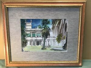 Architectural Watercolour Framed Painting