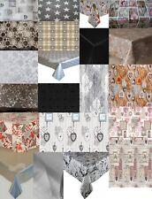 ASSORTED SILVER GREY BLACK PLAIN PRINTED PVC PLASTIC VINYL PARTY TABLE CLOTHS