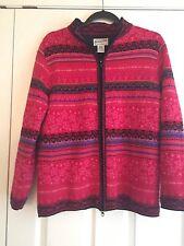 Vintage Pendleton Womens Zip Front Fair Isle Sweater Jacket Sz M