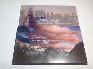 2007-P & D US UNC Mint Set 28 Coins 8c