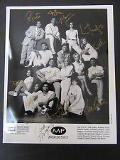 Cast Photo of Melrose Place Signed in Gold Ink (13/14) with COA