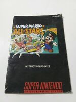 SNES Super Mario All Stars Instruction Booklet (MANUAL ONLY)(SNES)