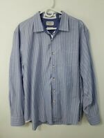 TOMMY BAHAMA RELAX Flannel Shirt Blue Plaid Button Up Long Sleeve Men's Size XL