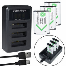 3x NP-BX1 Replacement Battery +Triple Charger for Sony Camera DSC-RX50V DSC-H400