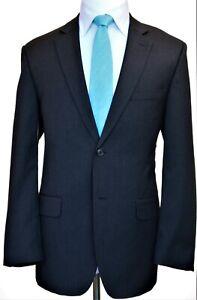 NEW Wilke Rodriguez Charcoal 2 Button Flat Front Suit, US 42L