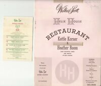 Vintage HELIX HOUSE Restaurant Menu San Diego California 1964