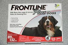 Frontline Plus Merial RED 3 XL X-Large Dogs 89-132lbs THREE Doses Flea Tick NEW