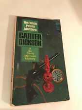 THE WHITE PRIORY MURDERS, CARTER DICKSON,  1934/1963 PAPER BACK