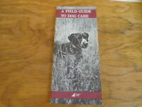 A Field Guide to Dog Care Arizona Game and Fish Circa 1987 Free Domestic Shippin
