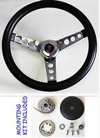 "New! 1964-1966 Tempest Grand Prix LeMans Black Steering Wheel 13.5"" 13 1/2"""