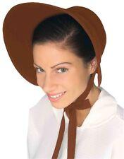 Amish Mennonite Puritan Brown Felt Bonnet Costume Hat