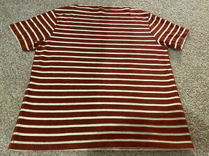LVC Levi's Vintage Clothing Boat Neck Brick Red Striped Tee T Shirt RARE