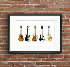 John Lennon's Guitars - POSTER PRINT A1 size