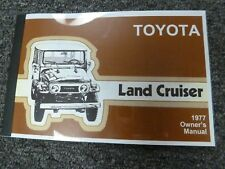1977 Toyota Land Cruiser Suv Owner Owner's Manual User Guide Book 4.2L
