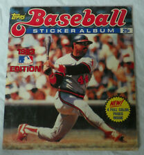 Vintage 1983 Topps Chewing Gum MLB Baseball Sticker Album w/ stickers Babe Ruth