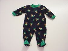 Carter's Infant Boys Monkey's with Football Helmet Footed Pajamas Size Newborn