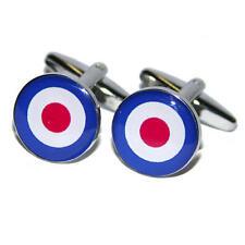 Blue, White & Red Bullseye Target Cufflinks Mod 60S Punk Raf Roundel Present