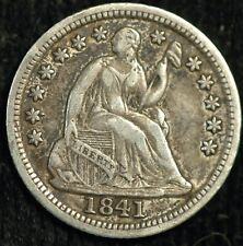 More details for usa 5 cents half dime 1841 seated liberty km#62.2 (t13)