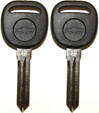 PAIR NEW UNCUT CADILLAC CHEVY TRANSPONDER CHIP IGNITION KEY B111-PT W/Chevy Logo