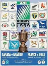 Canada V Namibia & FRANCIA V Fiji Rugby World Cup 1999 programma