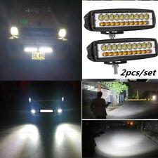2pcs 60W 6000K LED Work Light Bar Flood Beam Offroad 4WD SUV Driving Fog Lamp