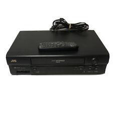 JVC HR-A591U HiFi Stereo SQPB DA-4 Head VCR Recorder VHS Player w/ Remote Tested