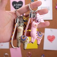 Fashion Epoxy Alpaca Keychain Doll Cartoon Little Sheep  Bag Pendant Jewelry