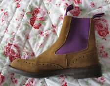 TRICKERS Tricker's Stiefeletten Gr 39 40 cognac lila Leder Chelsea Boots TOP