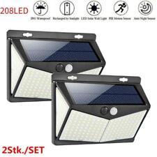 2x 208LED Solar Lamp Outdoor Garden Yard Waterproof PIR Motion Sensor Wall Light