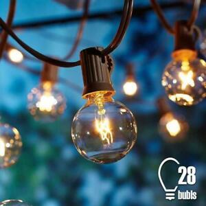 G40 Lichterkette für Außen Warmweiß, Strombetrieben für Party Garten 7.62M/25FT