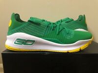 Under Armour Curry 4 Low Green Yellow 3000083-382 Size 15 100% Authentic