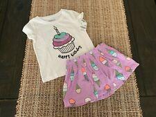 Baby Girl Carter's OsHKosh 2 Piece Birthday Outfit Shirt And Skort Sz 18M NWT