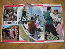 IL MULINO DEL PO BACCHELLI SCENEGGIATO TV FOTO COLORI ANTEPRIMA 1962 TELE GIORNO