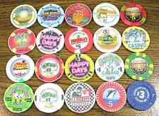 Lot of 20 Old / Obsolete & Vintage Casino Chips