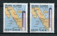 Estonia 2017 MNH Orjaku Leading Light Lighthouses 2v Set Architecture Stamps