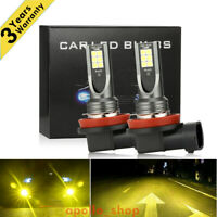 H11 H8 H9 CREE LED Fog Light Conversion Kit Premium 3000K Yellow 350W DRL Lamps