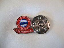 """Jubiläums-Pin Vor 20 Jahren... FC Bayern München """"Deutscher Meister 1994"""" DFL"""